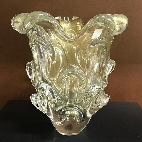 122402 Vaso Murano com ouro