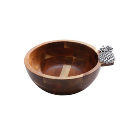 111008 Bowl de Acacia Abacaxi Prata
