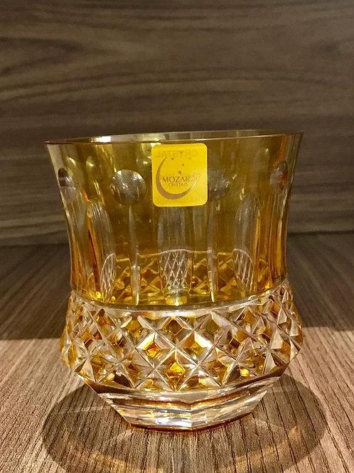 122445 Copo cristal mozart amarelo lapidação 69