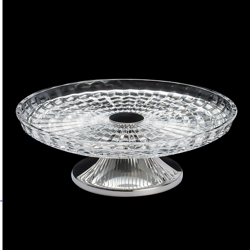 102517 - Prato para bolo 30cm com pé de prata