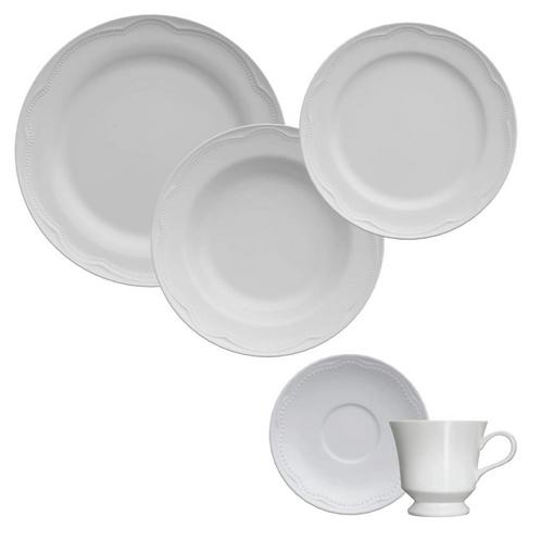 110318 - Jg de jantar/chá 30 peças porcelana