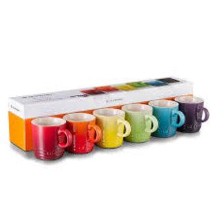 107225 Jogo 6 canecas expresso colorido