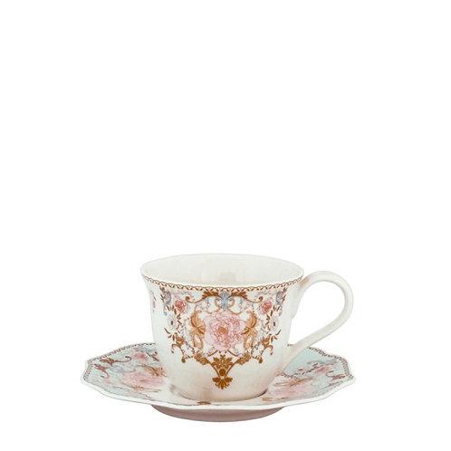 102283 Jg 6 xícaras chá com píres Diana