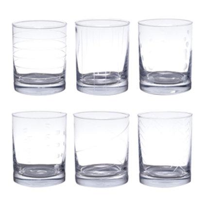 115536 Jogo 06 copos para whisky Barin