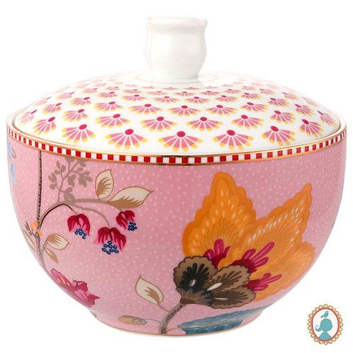 106338 Pote para algodão rosa