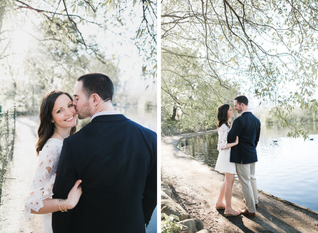 Melissa + Russell's Engagement Session at Piedmont Park