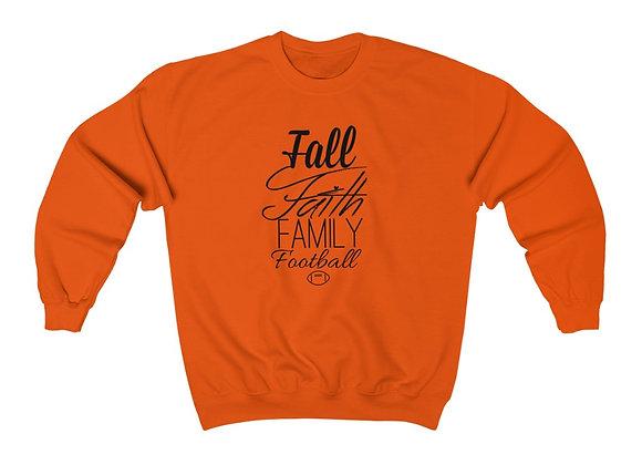 Fall Faith Football Crewneck Sweatshirt