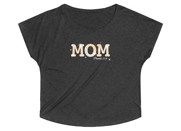 """Women's Tri-Blend """"Mom"""" Dolman"""