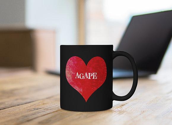 Black Agape mug 11oz