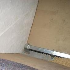 Pelletlagerraum mit Förderschnecke