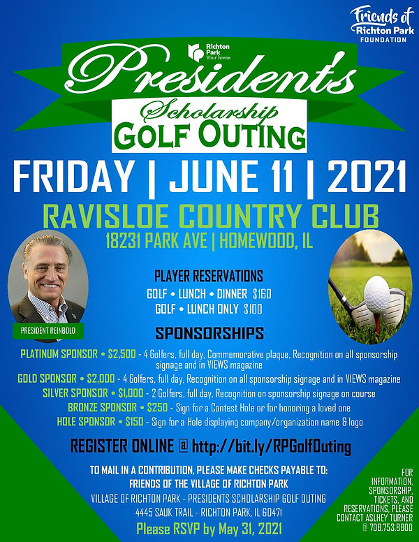 2021 Presidents Scholarship Golf Outing
