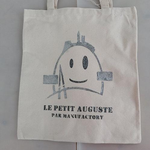 TOTE BAG LE PETIT AUGUSTE ARGENT