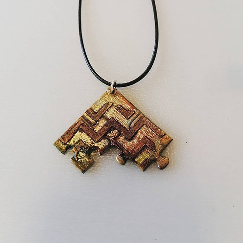 Collier 3 pièces triangle b
