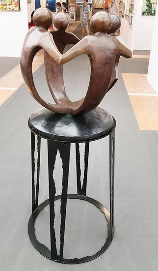 """Grand bronze """"la farandolle union"""" Pièce unique"""