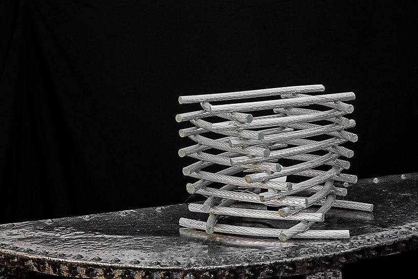 Lampe à poser en cable aluminium