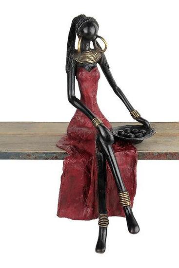 Grande femme assise 40 cm