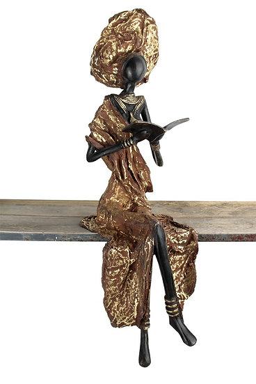 Femme assise exceptionnelle 58,5 cm