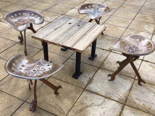Petite table basse Bois métal