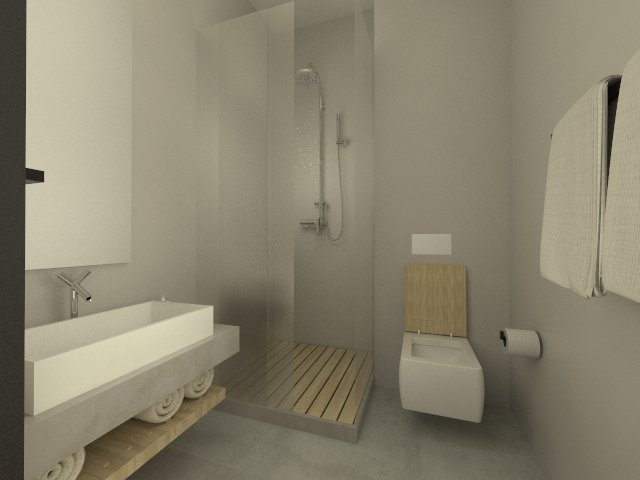 Typical double room - Bathroom