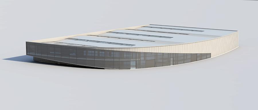 Μελέτη κελύφους του νέου κτιρίου