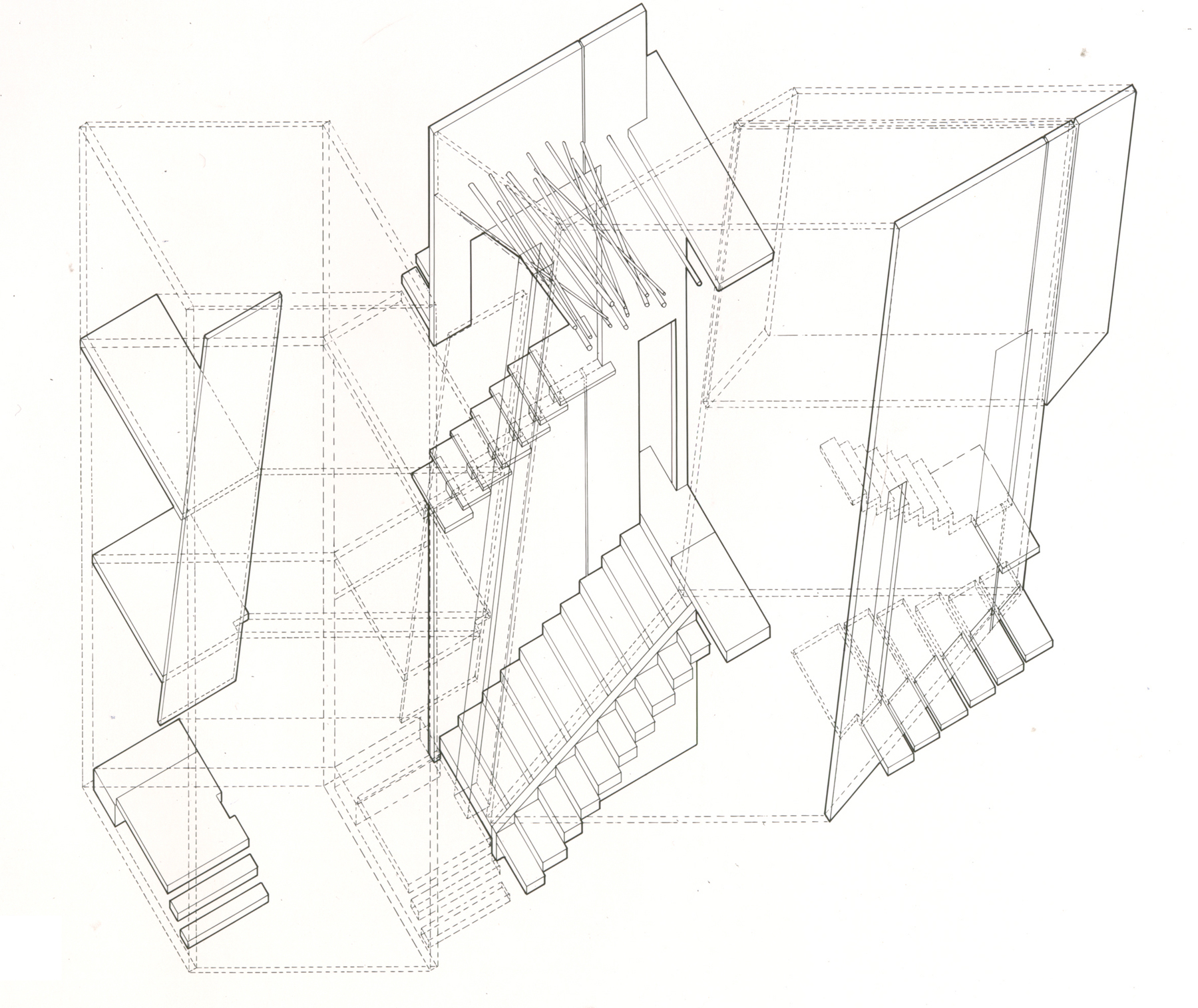 Library Stairs Hand Sketch