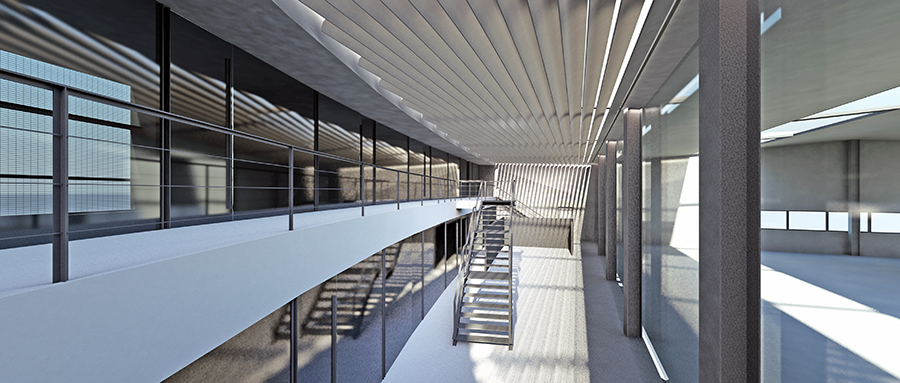 Interior double height space