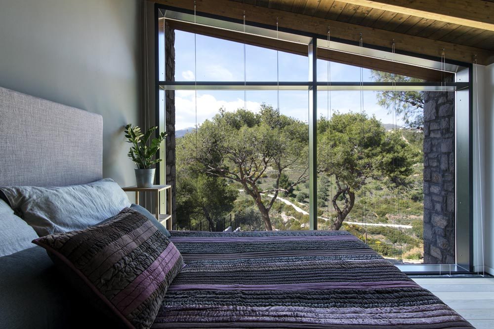 Master bedroom with view of the tree