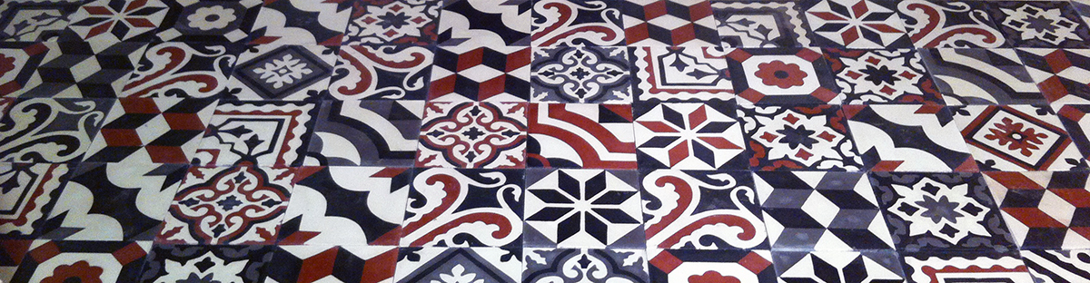 Traditional cement tiles