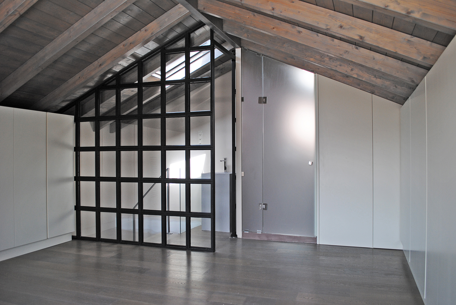 Master bedroom in the attic