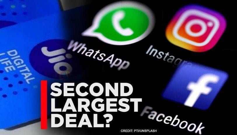 Reliance jio - facegook, second largest deal