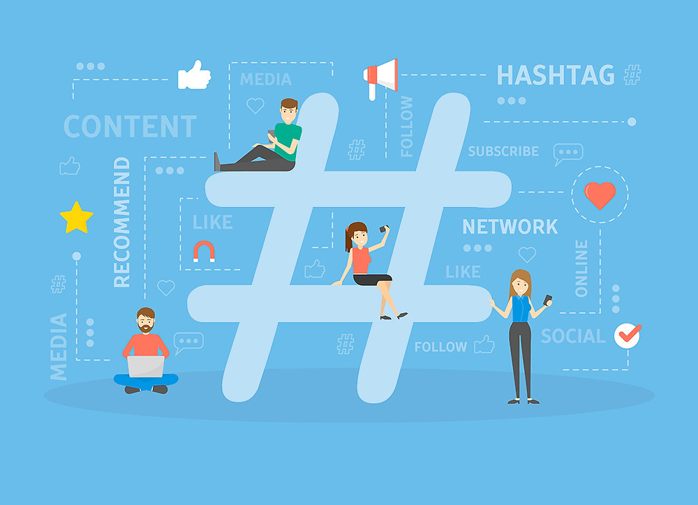 Use of hashtag on content marketing