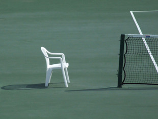 Seat by the Tennis Court