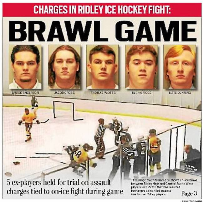 Five Pennsylvania teenagers face criminal trial for on-ice assault