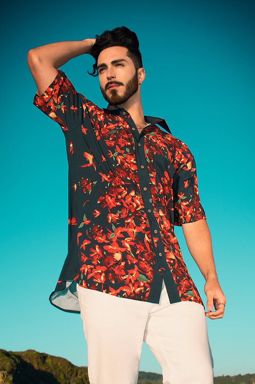 Camisa Manga Corta Orchid
