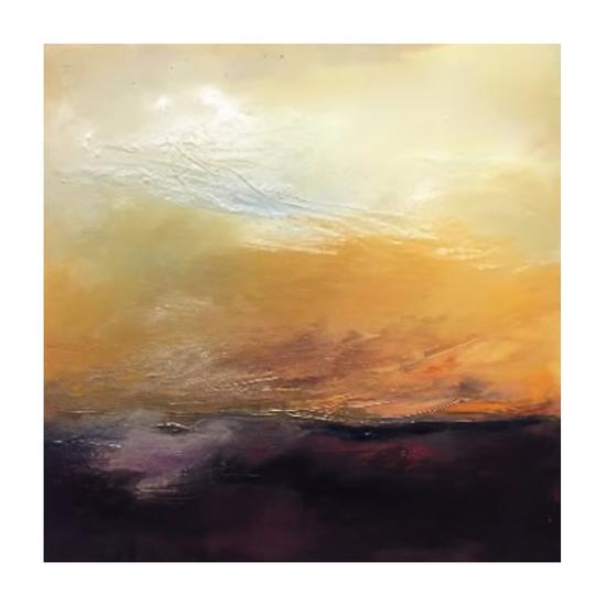 "Susanne Wallace Mears  ""Autumn Sunset"" 36"" X 36"" oil on canvas $4,400"