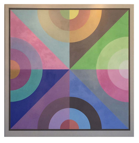 "Noel Torry ""Geometric Abstraction #2"" acrylic on canvas 74"" x 72"" $5,500"