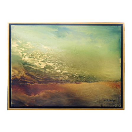 """Suzanne Wallace Mears  """"Western Sunset"""" 30"""" x 40"""" oil on canvas"""