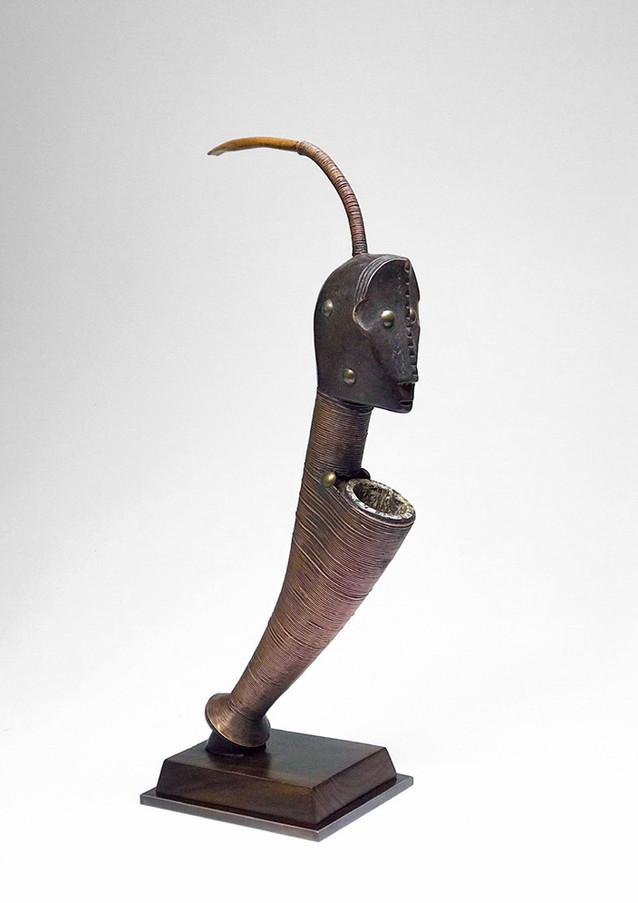 Custom mount African figure detail