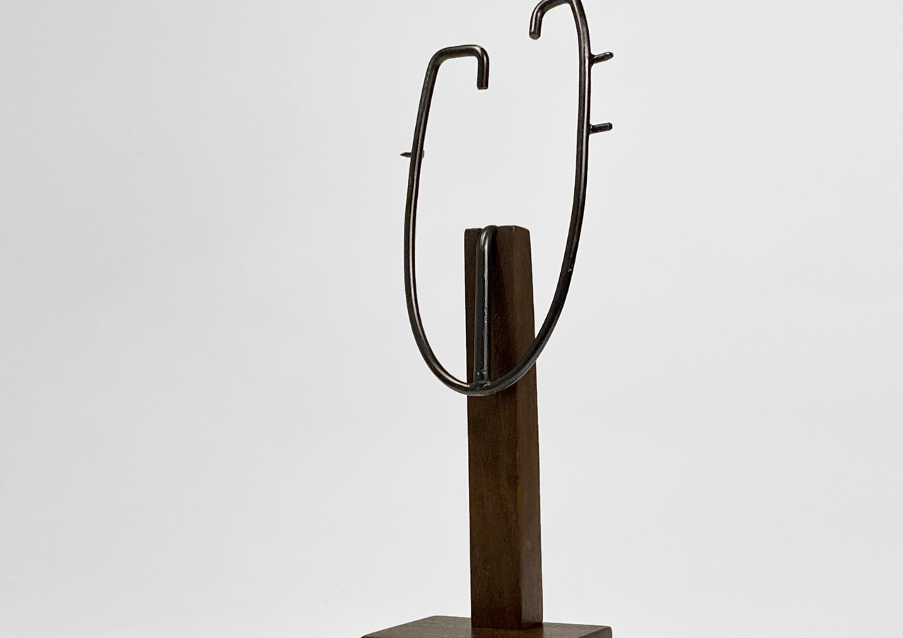 Custom display stand for African Art Tri