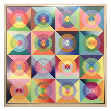 "Noel Torry ""Geometric Abstraction #3"" acrylic on canvas 72"" x 74"" $5,500"