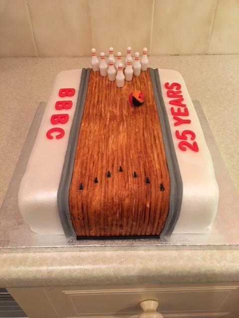 Tenpin Bowling Lane Cake