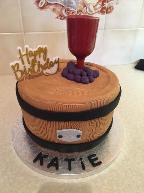 Red Wine Barrell Cake