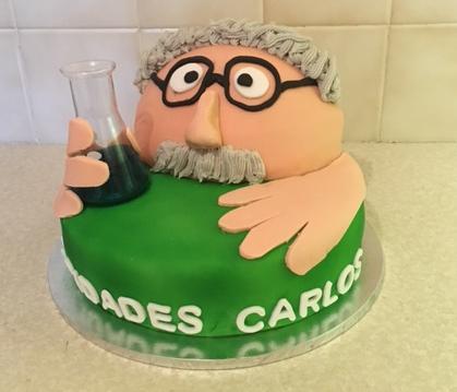 Crazy Scientist Cake