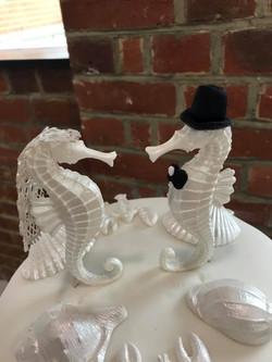Marine Themed Wedding Cake