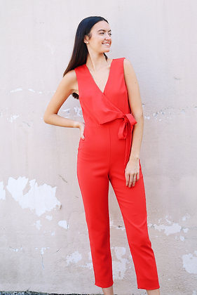 Lavender Brown Red Jumpsuit