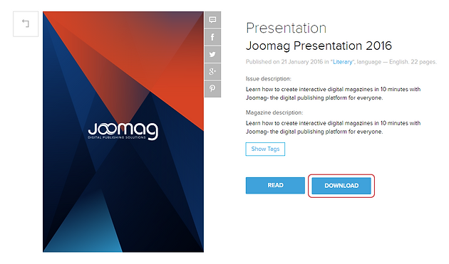Joomag's PDF Download Feature
