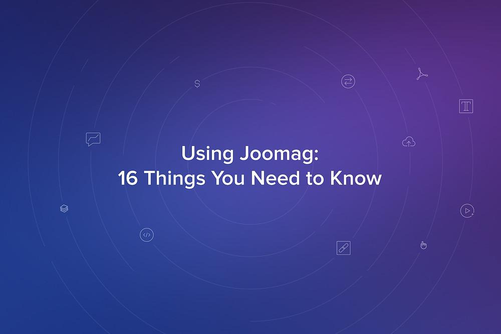 Using Joomag