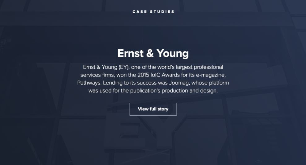 Ernst & Young case study