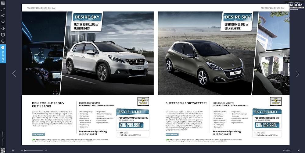 digital car brochure