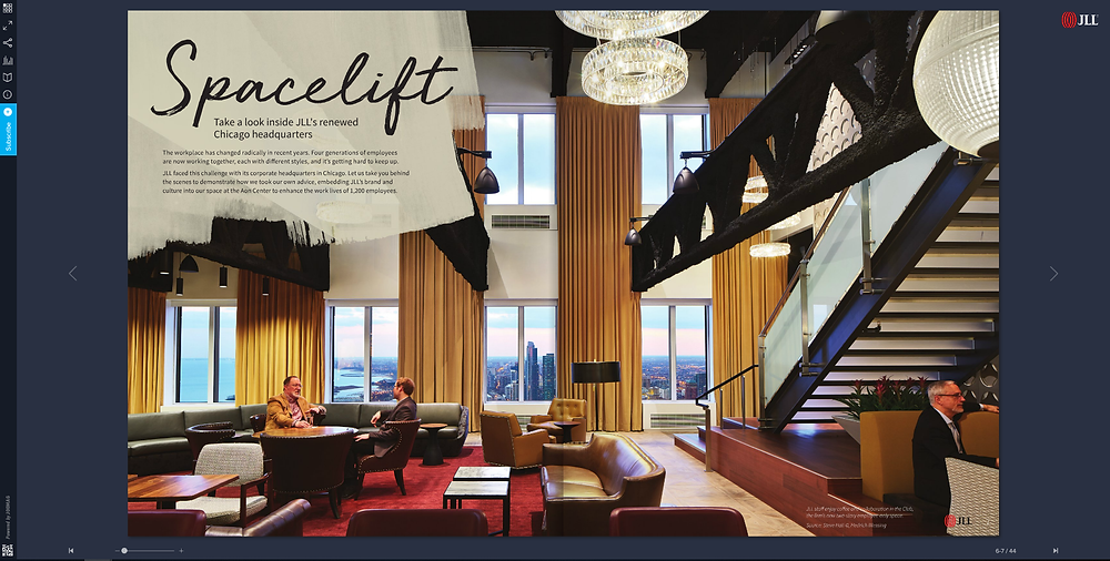 JLL property listing magazine